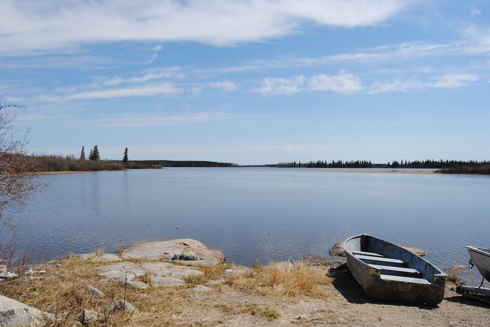 Boat launch at Bearskin Lake First Nation
