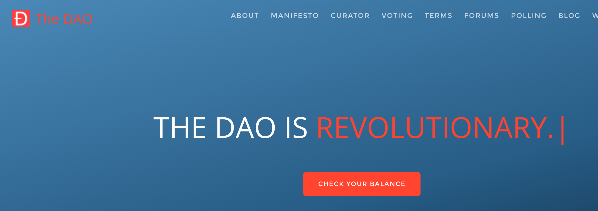 Screenshot of daohub.org