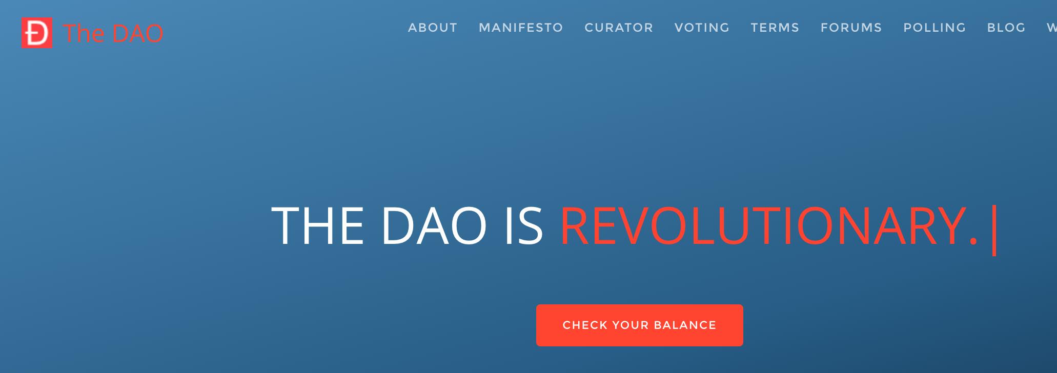 Screenshot of daohub.org