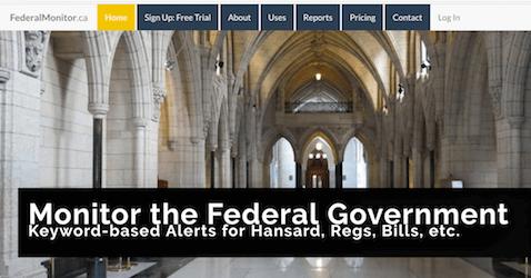 Screenshot of FederalMonitor.ca